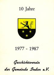 """Sonderdruck """"10 Jahre Geschichtsverein"""" – eine Vereinschronik"""
